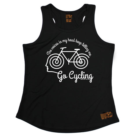 Ride Like The Wind The Voices In My Head Keep Telling Me Go Cycling Girlie Training Vest