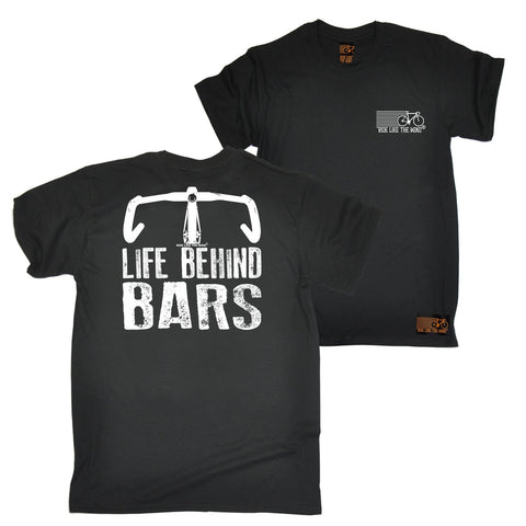 FB Ride Like The Wind Cycling Tee - Bike Life Behind Bars - Mens T-Shirt
