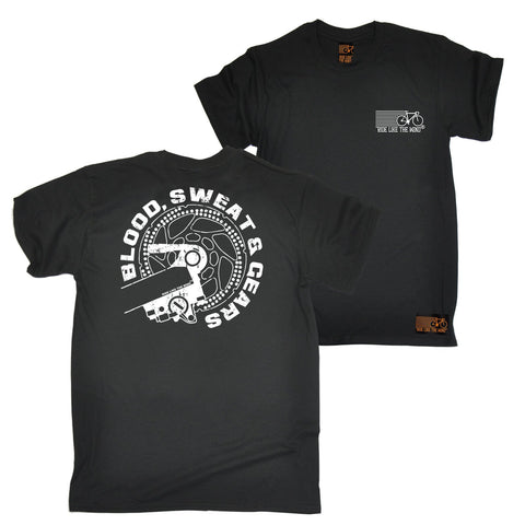 FB Ride Like The Wind Cycling Tee - Blood Sweat Gears - Mens T-Shirt