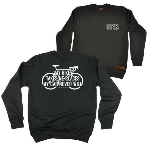 FB Ride Like The Wind Cycling Sweatshirt - My Bike Takes Me Places - Sweater Jumper