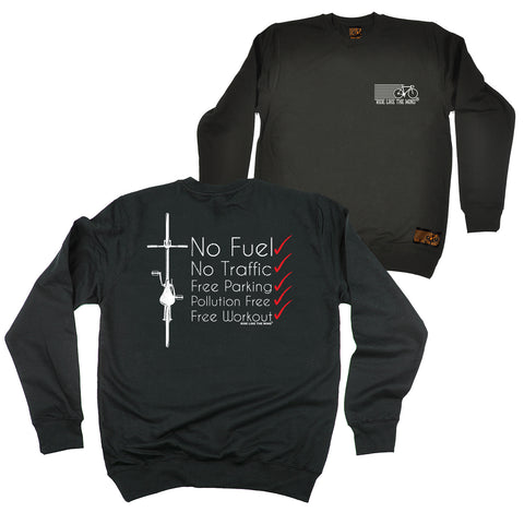FB Ride Like The Wind Cycling Sweatshirt - Red No Fuel - Sweater Jumper
