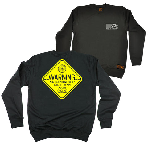 FB Ride Like The Wind Cycling Sweatshirt - Warning Cycling - Sweater Jumper