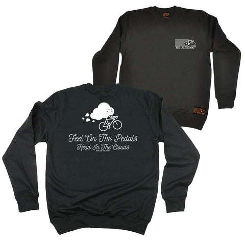FB Ride Like The Wind Cycling Sweatshirt - Head In The Clouds - Sweater Jumper