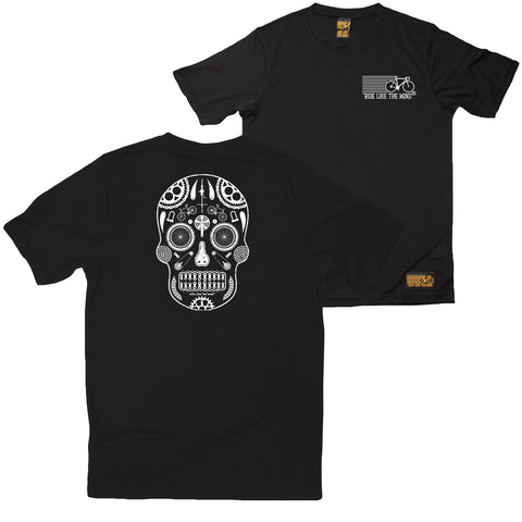 FB Ride Like The Wind Cycling Tee - Skull - Dry Fit Performance T-Shirt