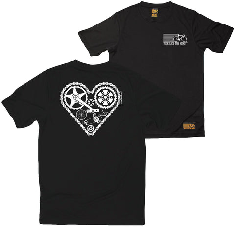 FB Ride Like The Wind Cycling Tee - Heart Parts - Dry Fit Performance T-Shirt