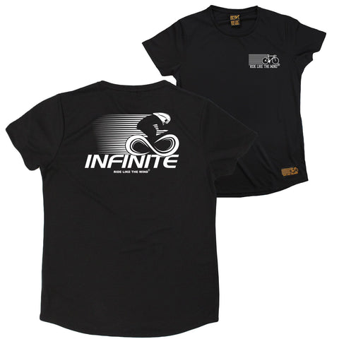 FB Ride Like The Wind Cycling Ladies Tee - Infinite - Round Neck Dry Fit Performance T-Shirt