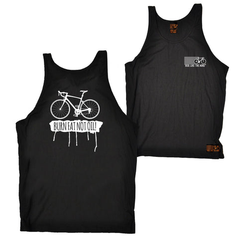 FB Ride Like The Wind Cycling Vest - Burn Fat Not Oil - Bella Singlet Top