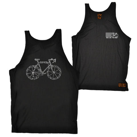 FB Ride Like The Wind Cycling Vest - Words - Bella Singlet Top