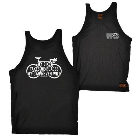 FB Ride Like The Wind Cycling Vest - My Bike Takes Me Places - Bella Singlet Top