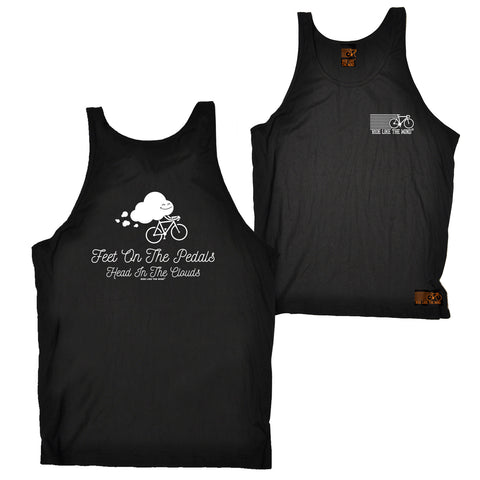 FB Ride Like The Wind Cycling Vest - Head In The Clouds - Bella Singlet Top