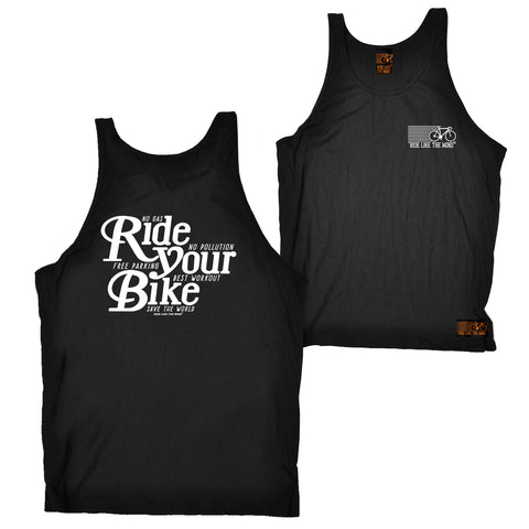 FB Ride Like The Wind Cycling Vest - Ride Your Bike - Bella Singlet Top
