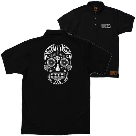 FB Ride Like The Wind Cycling Polo Shirt - Skull - Polo T-Shirt