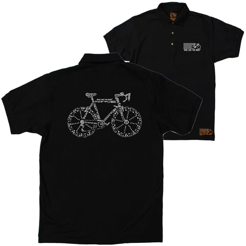 FB Ride Like The Wind Cycling Polo Shirt - Words - Polo T-Shirt