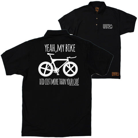FB Ride Like The Wind Cycling Polo Shirt - Cost More Than Your Car - Polo T-Shirt