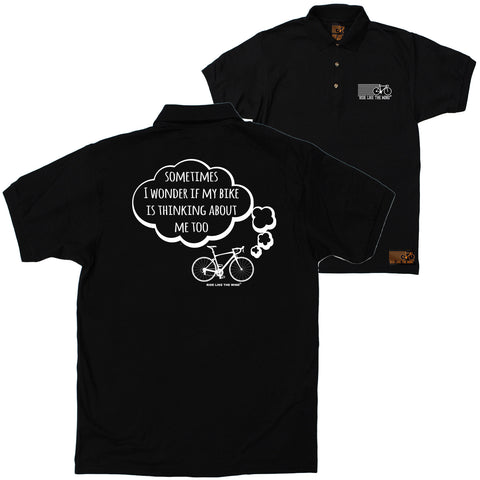 FB Ride Like The Wind Cycling Polo Shirt - I Wonder Bike - Polo T-Shirt