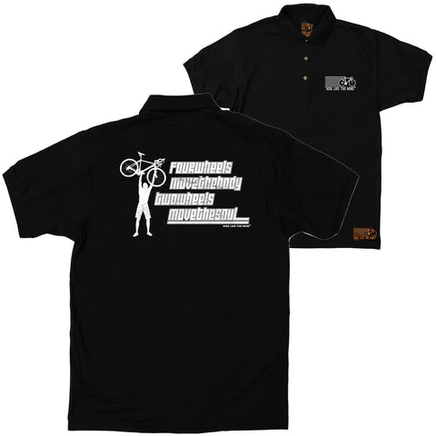 FB Ride Like The Wind Cycling Polo Shirt - Two Wheels Move The Soul - Polo T-Shirt
