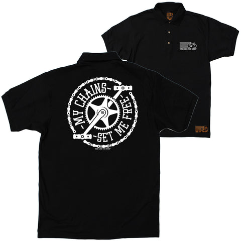 FB Ride Like The Wind Cycling Polo Shirt - My Chains - Polo T-Shirt