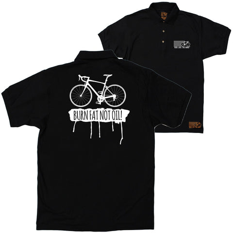 FB Ride Like The Wind Cycling Polo Shirt - Burn Fat Not Oil - Polo T-Shirt