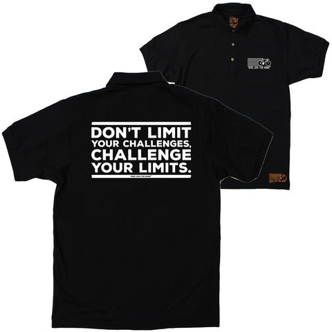 FB Ride Like The Wind Cycling Polo Shirt - Challenge Your Limits - Polo T-Shirt