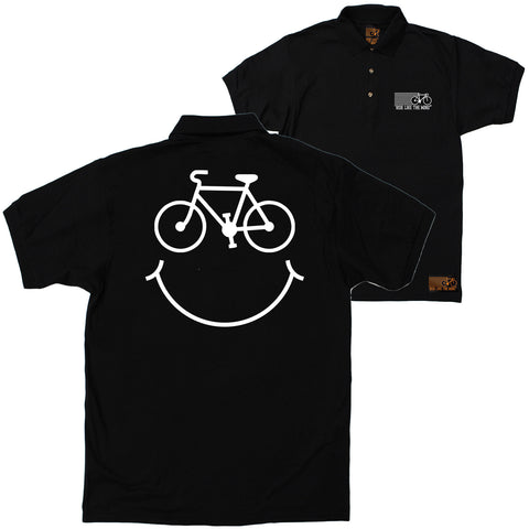 FB Ride Like The Wind Cycling Polo Shirt - Smile - Polo T-Shirt
