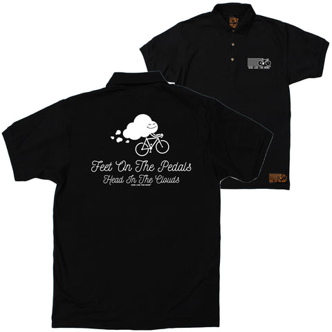 FB Ride Like The Wind Cycling Polo Shirt - Head In The Clouds - Polo T-Shirt