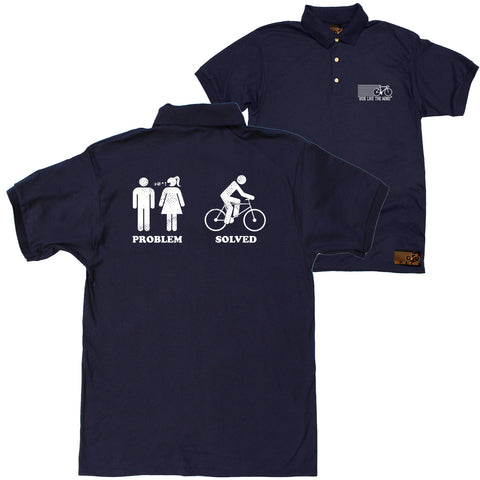 FB Ride Like The Wind Cycling Polo Shirt - Problem Solved - Polo T-Shirt