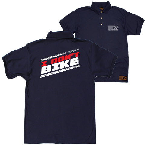 FB Ride Like The Wind Cycling Polo Shirt - You Lost Me At - Polo T-Shirt