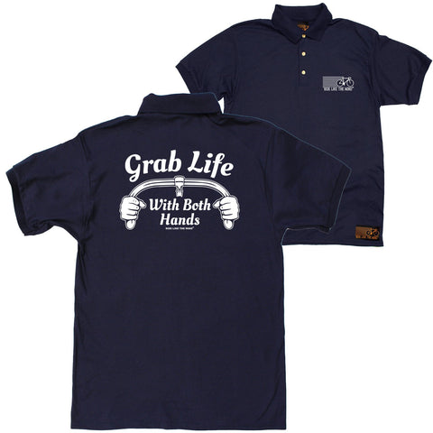 FB Ride Like The Wind Cycling Polo Shirt - Grab Life - Polo T-Shirt