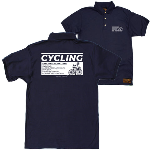 FB Ride Like The Wind Cycling Polo Shirt - Side Effects - Polo T-Shirt