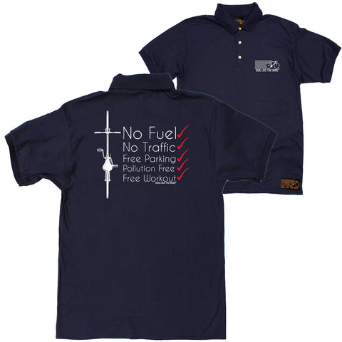 FB Ride Like The Wind Cycling Polo Shirt - Red No Fuel - Polo T-Shirt