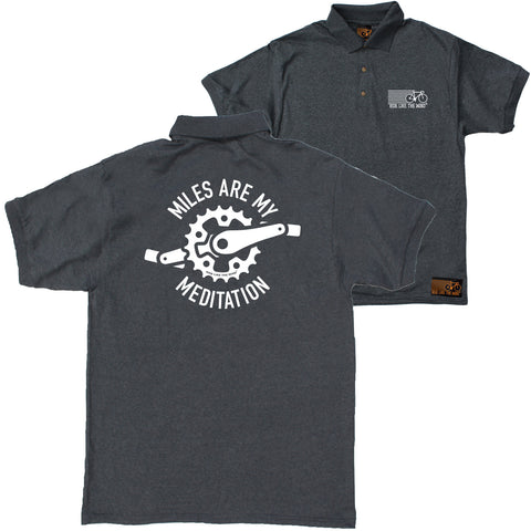 FB Ride Like The Wind Cycling Polo Shirt - Miles Meditation - Polo T-Shirt