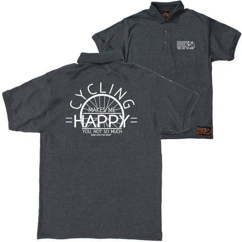FB Ride Like The Wind Cycling Polo Shirt - Makes Me Happy - Polo T-Shirt