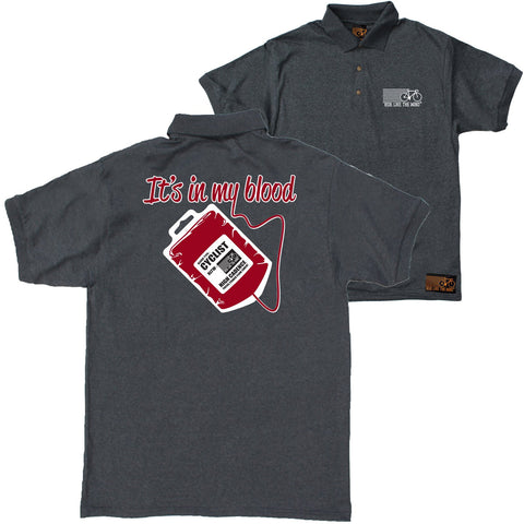 FB Ride Like The Wind Cycling Polo Shirt - In My Blood - Polo T-Shirt