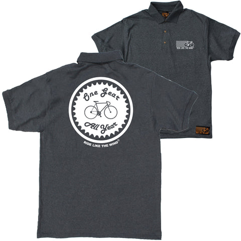 FB Ride Like The Wind Cycling Polo Shirt - One Gear All Year - Polo T-Shirt