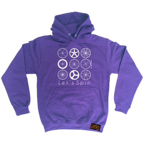 Ride Like The Wind Let's Spin Cycling Hoodie