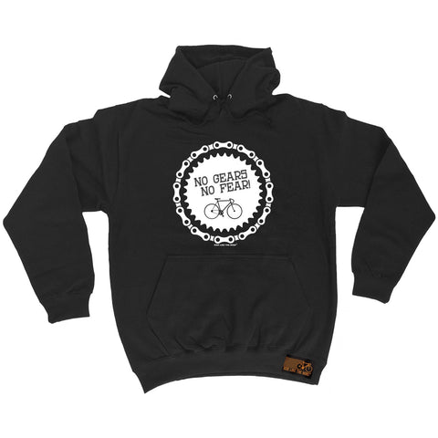 Ride Like The Wind No Gears No Fear Cycling Hoodie