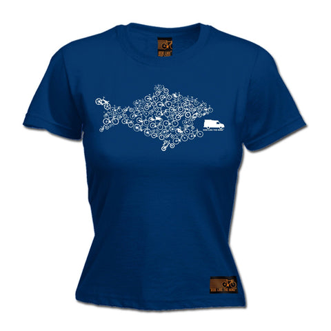 Ride Like The Wind Women's Eco Fish Bike Cycling T-Shirt