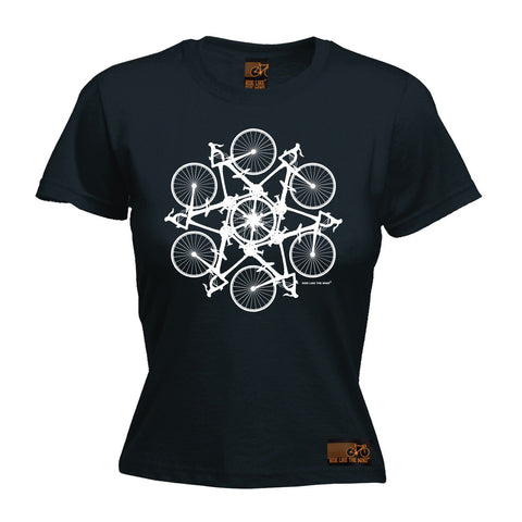 Ride Like The Wind Women's Kaleidospoke Cycling T-Shirt