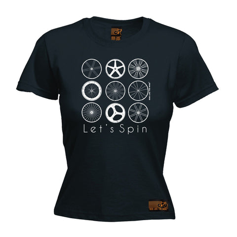 Ride Like The Wind Women's Let's Spin Cycling T-Shirt