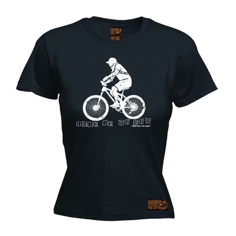 Ride Like The Wind Women's This Is My Gym ... Bike Design Cycling T-Shirt