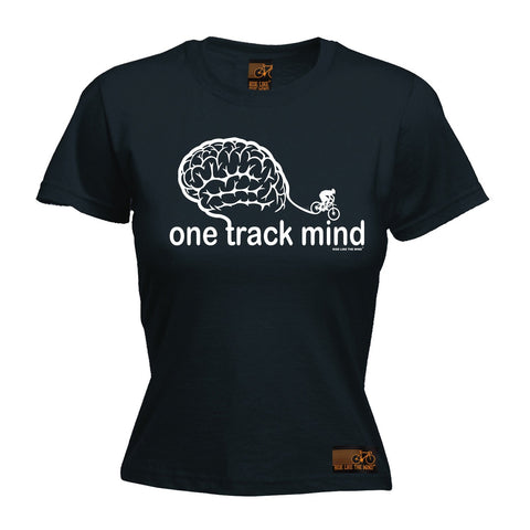Ride Like The Wind Women's One Track Mind Cycling T-Shirt