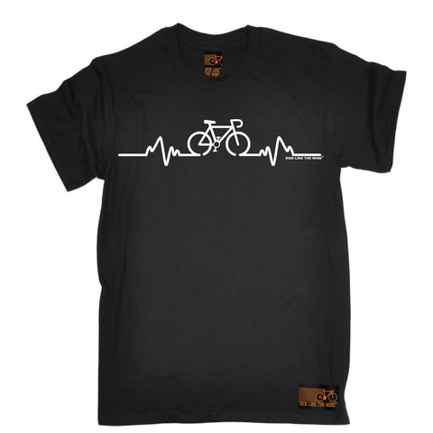 Ride Like The Wind Men's Bike Pulse Cycling T-Shirt Fashion tee