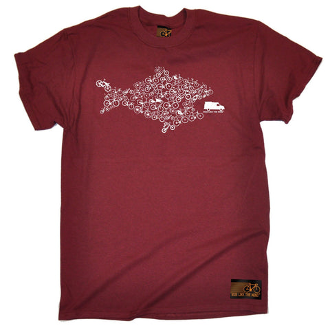 Ride Like The Wind Men's Eco Fish Bike Cycling T-Shirt