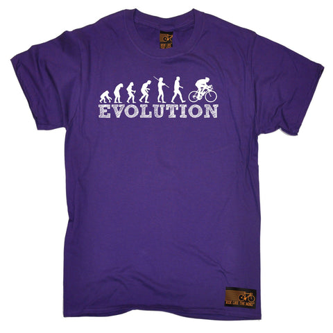 Ride Like The Wind Men's Evolution Bike Racer Cycling T-Shirt