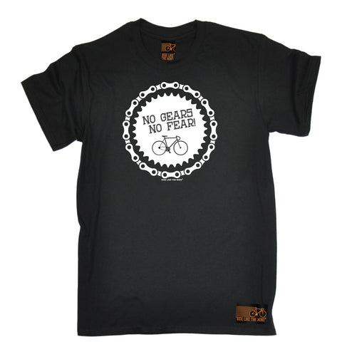 Ride Like The Wind Men's No Gears No Fear Cycling T-Shirt