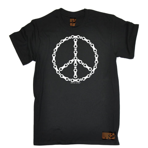 Ride Like The Wind Men's Peace Bicycle Chain Design Cycling T-Shirt