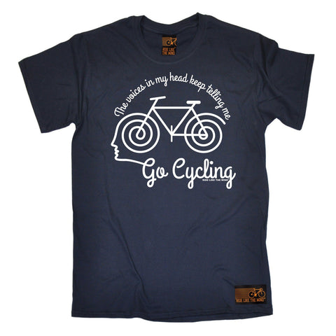 Ride Like The Wind Men's The Voices In My Head Keep Telling Me Go Cycling T-Shirt