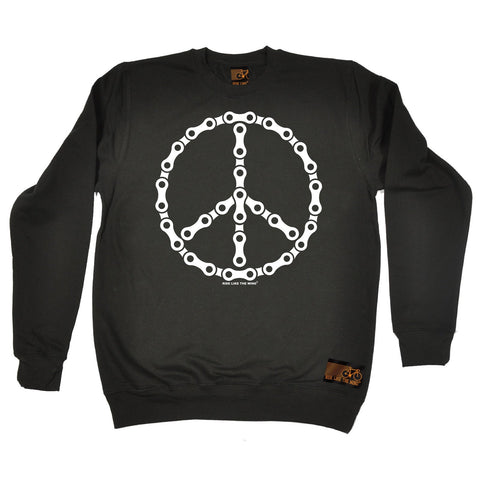 Ride Like The Wind Peace Bicycle Chain Design Cycling Sweatshirt
