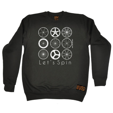 Ride Like The Wind Let's Spin Cycling Sweatshirt