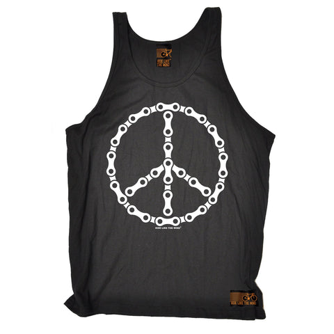 Ride Like The Wind Peace Bicycle Chain Design Cycling Vest Top